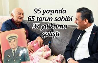 95 yaşında, 65 torun sahibi, 37 yıl kamu çalıştı