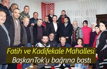 Başkan Erdoğan Tok, her mahallede coşku ile karşılanıyor