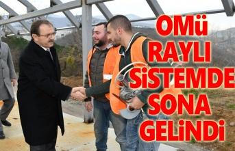 Başkan Şahin, OMÜ'ye Raylı Sistemde sona gelindiğini açıkladı