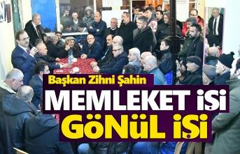 Başkan Zihni Şahin, Taflan Mahallesi'nde halkla buluştu
