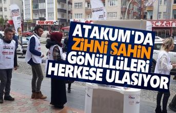 Atakum'da Zihni Şahin Gönüllüleri Herkese Ulaşıyor