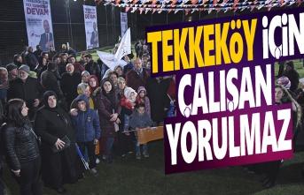 Başkan Togar, Tekkeköy için Çalışan Yorulmaz