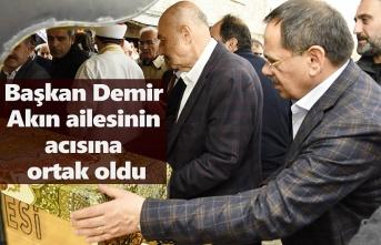 Başkan Demir, Eski Milletvekili Akın'ın Cenazesine Katıldı