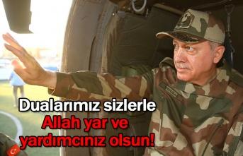 Cumhurbaşkanı Erdoğan'dan Mehmetçiğe Mesaj