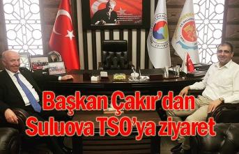 Başkan Çakır'dan Suluova TSO'ya ziyaret