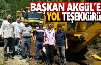 Başkan Akgül'e Yol Teşekkürü
