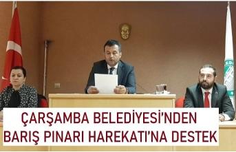 Çarşamba Belediyesi'nden Barış Pınarı Harekatı'na destek