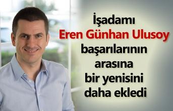 Eren Günhan Ulusoy İş dünyasının en genç 4. CEO'su oldu