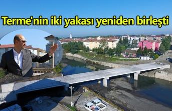 Terme'de köprü inşaatında son aşamaya gelindi