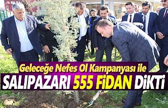 Salıpazarı İlçesinde 555 Fidan Toprakla Buluştu