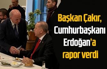 Başkan Çakır, Cumhurbaşkanı Erdoğan'a rapor verdi: Borsadan önemli hizmet