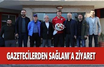 Gazetecilerden Ertuğrul Sağlam'a Ziyaret