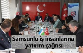 Özbekistan heyetinden Samsunlu işadamlarına yatırım çağrısı