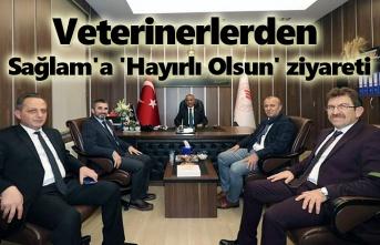 Veterinerlerden İl Müdürü Sağlam'a 'Hayırlı Olsun' ziyareti
