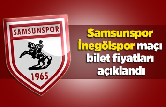 Samsunspor İnegölspor maçı bilet fiyatları açıklandı