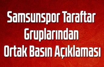 Samsunspor Taraftar Gruplarından Ortak Basın Açıklaması