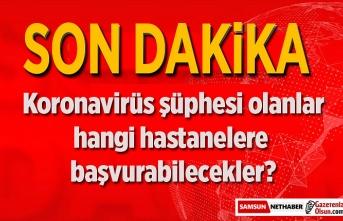Koronavirüs testinin yapıldığı hastanelerin listesi yayınladı, Samsun'da var!