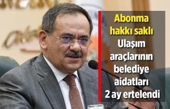 Samsun Haber - Ulaşım araçlarının belediye aidatları 2 ay ertelendi
