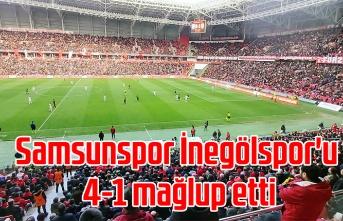 Samsunspor İnegölspor'u 4-1 mağlup etti