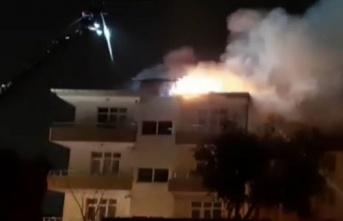 Atakum'da korkutan çatı yangını - Samsun Haber