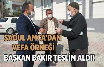 Başkan Bakır, Sadul Amca'nın bağışını teslim aldı
