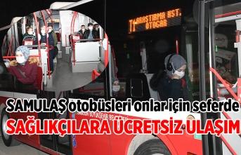 Samsun'da sağlık çalışanlarına ücretsiz ulaşım