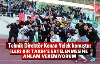 Çarşambaspor'un Teknik Direktörü Kenan Yelek konuştu