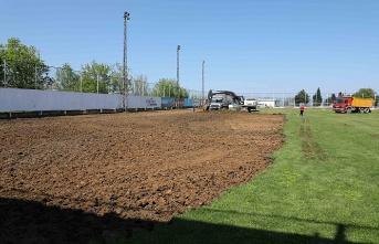 Samsunspor antrenman sahası yenileniyor