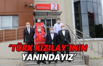 Türk Kızılay'ının yanındayız