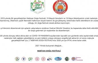 19 Mayıs Nebiyan Doğa Festivali iptal edildi - Samsun Haber