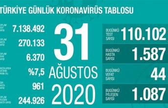 31 Ağustos koronavirüs tablosu, vaka ve vefat sayısı artıyor!