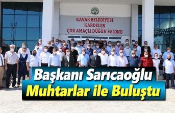 Başkan Sarıcaoğlu, Muhtarlar ile istişare toplantısı yaptı