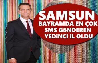 Samsun, Bayramda en çok SMS gönderen Yedinci il oldu