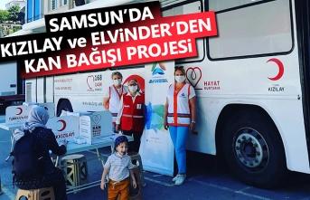 Samsun'da Kızılay ve Elvinder'den kan bağışı projesi