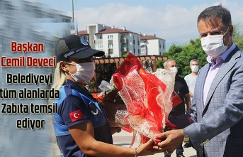Başkan Cemil Deveci: Belediyeyi tüm alanlarda Zabıta temsil ediyor