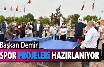 Başkan Demir: Spor projeleri hazırlanıyor