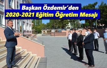 Başkan Özdemir, Aileler eğitimin tam içinde olmalı