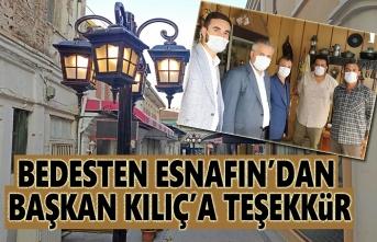 Bedesten Esnafından Başkan Kılıç'a Teşekkür