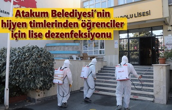 Atakum Belediyesi'nin hijyen timlerinden mesleki ve teknik liselere dezenfeksiyon