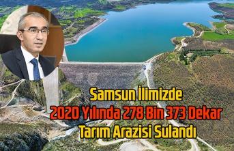 2020 Yılında 278 Bin 373 Dekar Tarım Arazisi Sulandı - Samsun Haberleri