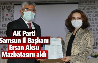 AK Parti Samsun İl Başkanı Ersan Aksu mazbatasını aldı