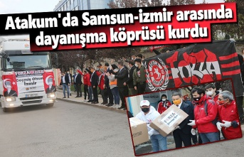 Atakum Belediyesi'nden İzmir için ikinci yardım TIR'ı