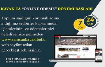 Kavak Belediyesi'nde online ödeme başladı