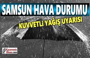 Samsun'da kuvvetli yağış uyarısı, 18 Kasım Samsun Hava Durumu