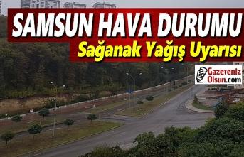 Samsun'da sağanak yağış uyarısı, 15 Aralık Samsun Hava Durumu