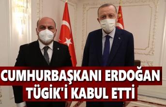 Cumhurbaşkanı Erdoğan, TÜGİK'i kabul etti