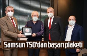 Samsun TSO'dan Samsun Yurt Savunma Sanayi'ne başarı plaketi