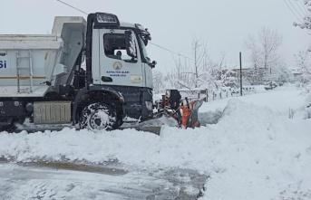 Bafra'da kar temizleme çalışmaları devam ediyor