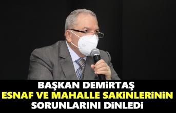 Başkan Demirtaş, Sorunları hepbirlikte çözeceğiz