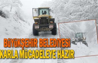 Büyükşehir Belediyesi Karla Mücadeleye Hazır